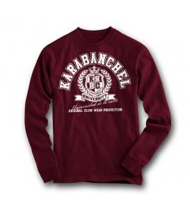 Sudadera Karabanchel University Granate - SlumWear