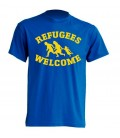 Camiseta Azul Refugees Welcome- FREELIFE