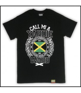 Camiseta Call mi a yardie black - WABB
