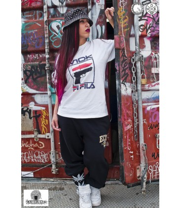 Camiseta En Fila Blanca - MDK