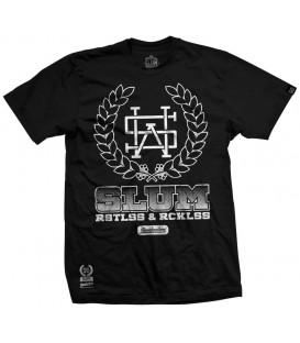 CAMISETA HOODMAKERS NEGRA - SLUM WEAR