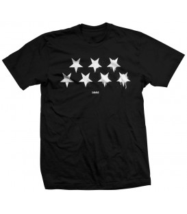 CAMISETA NEGRA ESTRELLAS INVERTIDAS BLACK FLAG - SLUM WEAR