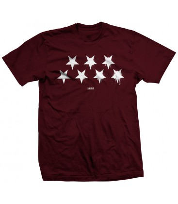 CAMISETA GRANATE ESTRELLAS INVERTIDAS BLACK FLAG - SLUM WEAR