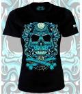 Camiseta Chica Con la muerte de tu lado Azul - CHEVRAND