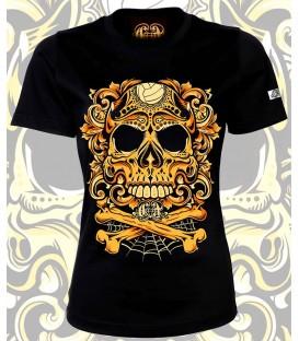 Camiseta Chica Con la muerte de tu lado Amarillo - CHEVRAND