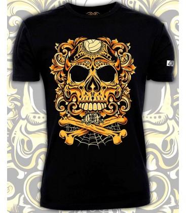 Camiseta Chico Con la muerte de tu lado Amarillo - CHEVRAND