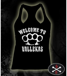 Camiseta Welcome to Vallekas negra chica - Bloodsheds