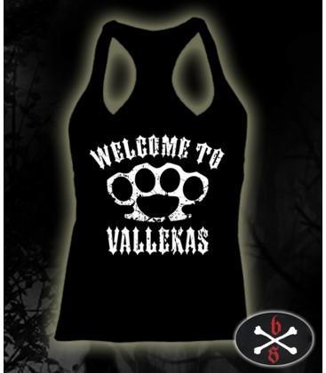 Camiseta Welcome to Vallekas negra chica - Bloodsheds
