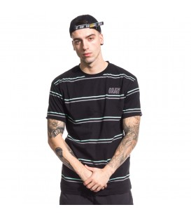 CAMISETA GRIMEY ROCK CREEK PARK STRIPES TEE SS17 BLACK - GRIMEY