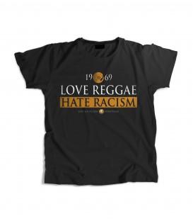 Camiseta Chica Love Reggae Hate Racism - LOVE YOUR CREW