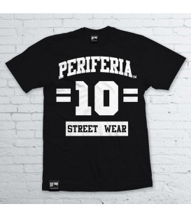Camiseta 10 Street Wear Negra - PERIFERIA
