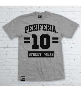 Camiseta 10 Street Wear Gris - PERIFERIA