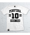 Camiseta 10 Street Wear Blanca - PERIFERIA