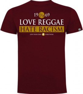 Love Reggae Hate Racism Granate - LOVE YOUR CREW
