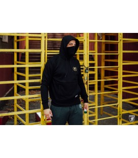 Sudadera Mask Hoodie Warrior Black - PG WEAR