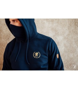 Sudadera Mask Hoodie Warrior Navy - PG WEAR