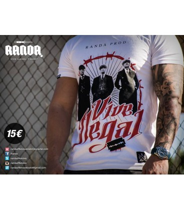 Camiseta Vive Ilegal - RANDA