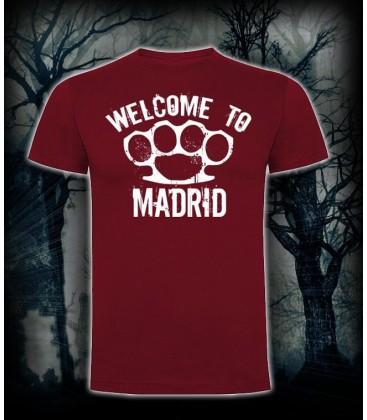 Camiseta Welcome To Madrid Granate - Bloodsheds