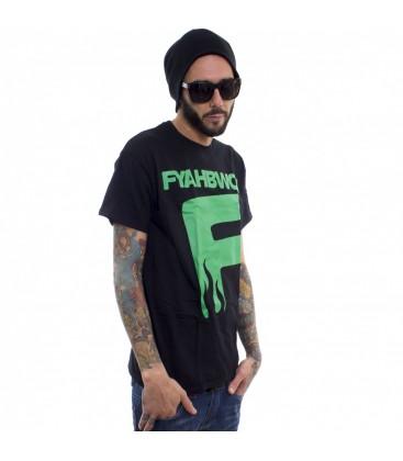 Camiseta Fyahbwoy Black Green - FYAHBWOY