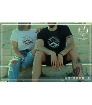 Camiseta Yo vivo en un barrio Azul - BLOODBROTHERS