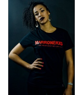 Camiseta Marronerxs Black - Marronerxs
