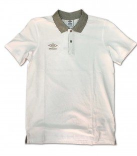 Polo Collar pique White - UMBRO