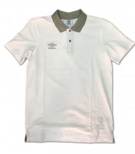 Polo Collar pique White - UMBRO