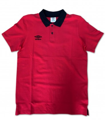 Polo Collar Pique Red - UMBRO