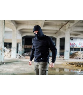 Ninja Hoodie Stealth Dark Black - PG WEAR