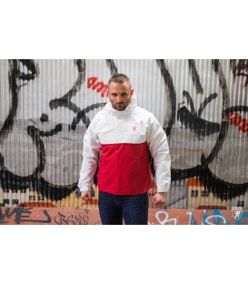 Full Face Jacket Riot White/Red - PG WEAR