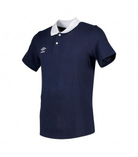 Polo Collar Pique Navy - UMBRO