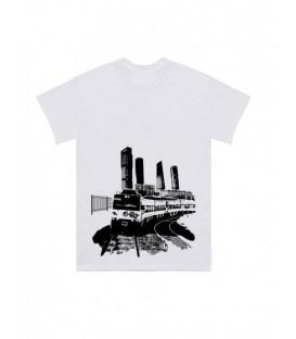 Camiseta Caballo Metalico Blanca - LA VERJA