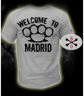 Camiseta Welcome To Madrid Blanca - Bloodsheds