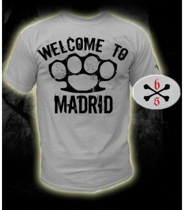 Camiseta Welcome To Madrid Blanca - Bloodsheds