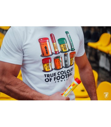 T-shirt Colours of Football White - PgWear