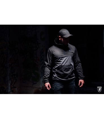 Full Face Softshell Jacket Combat Grey - PG WEAR