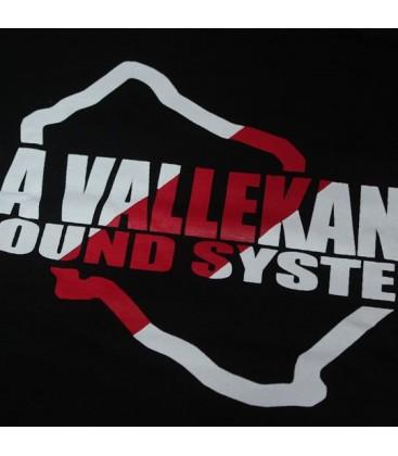 Camiseta La Vallekana  Sound System Franjiroja Negra