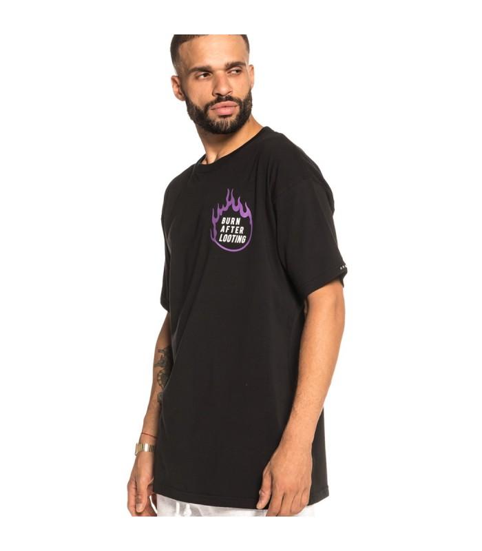 Camiseta Grimey Burn After Looting Tee FW18 black - GRIMEY 33955e37108