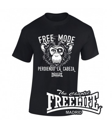 Camiseta Free Mode Negra - FREELIFE