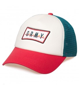Gorra Grimey Midnight trucker curved visor cap SS19 White - GRIMEY