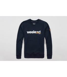 "Sweatshirt ""Weekend"" Navy - PG WEAR"