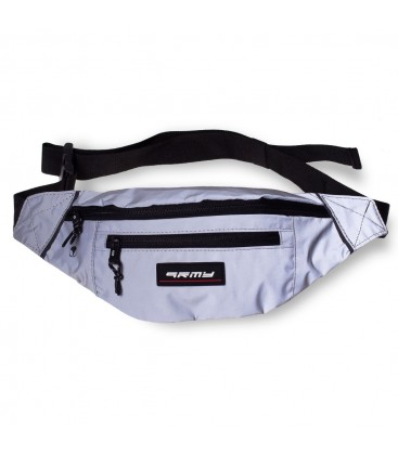 Riñonera Grimey Sighting in Vostok Reflective Fanny Pack FW19 Silver - GRIMEY