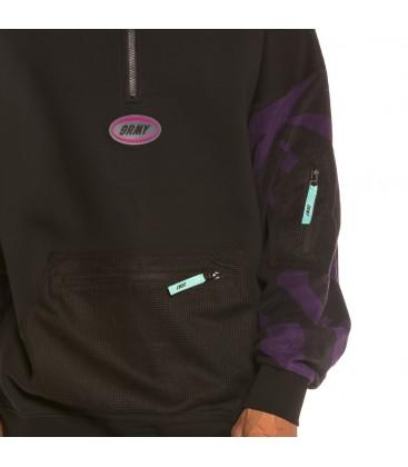 Sudadera Grimey Mysterious Vibes High Neck Sweatshirt FW19 black - GRIMEY