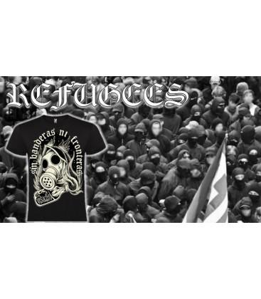 Camiseta NI BANDERAS NI FRONTERAS - REFUGEES CLOTHING