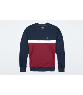 "Sweatshirt ""Oldschool"" Navy/Red - PG WEAR"