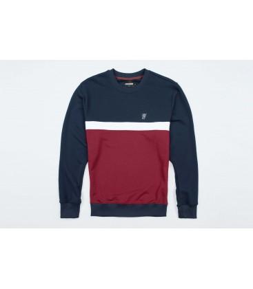 "Sweatshirt ""Oldschool"" Navy/Red - PG WEAR"