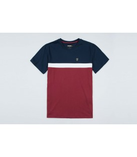 "T-shirt ""Oldschool"" Navy/Red - PgWear"