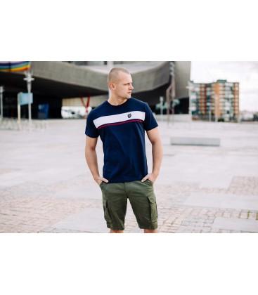 """T-shirt """"Oldschool II"""" Navy - PgWear"""