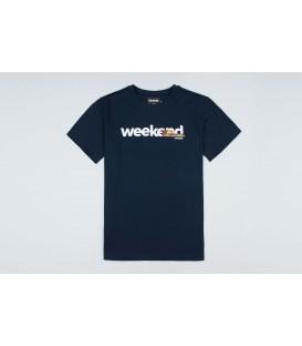 """T-shirt """"Weekend"""" Navy - PgWear"""