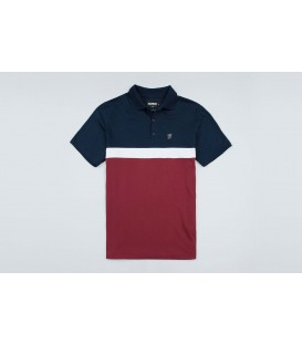 "Polo ""Oldschool"" Navy/Red - PgWear"
